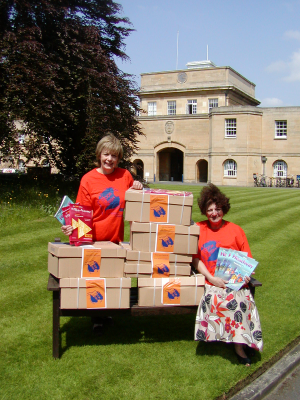 OUP's Judith King and CORD's Wendy Nelson at the handover in Oxford