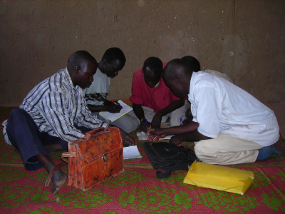 Self-study group in Bredjing Camp, Chad