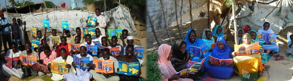 Darfuri refugees asked for these specific English textbooks.  Learning English i
