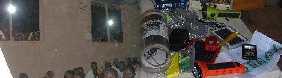 Testing solar-rechargeable lights so refugee women can attend nighttime